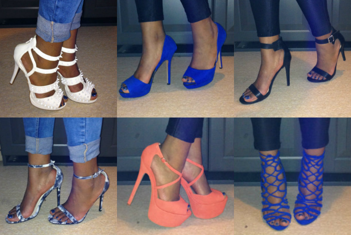 Blue Strappy High Heels